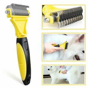 HSWLL New Stainless Double-sided Pet Cat Dog Comb Brush Professional Large Dogs
