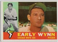 1960 Topps #1 Early Wynn EX-EXMT Marked Chicago White Sox FREE SHIPPING