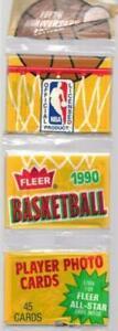 1990-91 Fleer NBA Basketball cards - Retail Rack Pack
