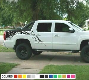 Decal cover side Graphic Sticker bed wrap for Chevrolet Avalanche bed design arm
