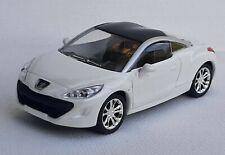 Norev 3 inches 1/60  Peugeot rcz blanc . Neuf en boite