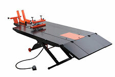 Upgraded APlusLift MT1500X Air OP Motorcycle Lift Table (1500 LB, with Side Ex.)