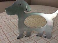 Metal Dog Photo Frame