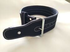 """Weight Lifting Belt Leather Single Prong weightlifting 4"""" wide 10mm thick"""