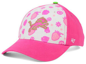 Detroit Lions NFL Strawberry Smoothie Kid's Youth Adjustable Girls Pink Hat Cap