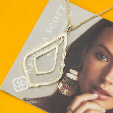Kendra Scott Simon Long Pendant Necklace In Gold NEW