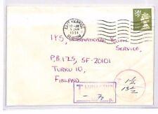 BR118 1981 GB SCOTLAND REGIONAL Machin Underpaid Cover *LUNASTUS/LOSEN* Finland