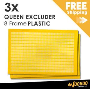3 x Lot 8 Frame Plastic Bee Queen Excluder Hive Box Brood Beekeeping Beehive AU