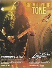Anthrax Jon Donais Signature Legator Guitar with Fishman Pickups 8 x 11 ad
