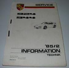 Schulungsunterlage Porsche 924 / 944 Motor Getriebe Fahrwerk Karosserie Elektrik