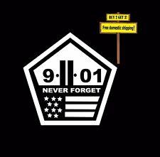 911 9-11 Never forget World Trade Center Terrorism New York Decal/sticker 107