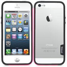 iPhone 5 5s Silikon Schale Case Cover Design Schutz Hülle Bumper Schwarz Pink