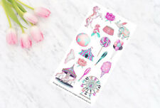 Carnival Decorative Planner Stickers all Planner Types Erin Condren, Personal