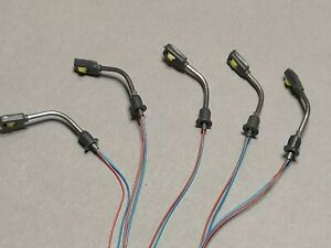 LOT NEUF 5 TÊTES de LAMPADAIRES HO à LED BLANC CLAIR 12V+R 510Ω JOUEF ROCO MKD