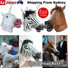 Latex Mask Horse Head Mask Animal HeadCreepy Halloween Costume Theater Party Toy