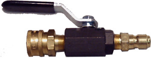 Ultimate Power Washer Ball Valve Quick Connect Shutoff Assembly