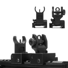 New Flip up Front Rear Iron Sight Set Rapid Transition for A2 Mil Spec Picatinny