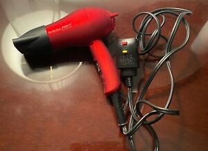 BABYLISS PRO TT-RED TOURMALINE TITANIUM HAIR DRYER-1500-FOLDING TRAVEL SIZE-EUC!