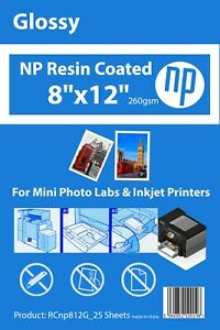 8x12 Gloss Premium 25 Sheets Photo Paper 260gsm