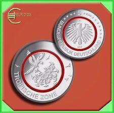 """5 Euro Münze Deutschland 2017 Stgl. aus Rolle """" Tropische Zone """", D,F,G oder J"""