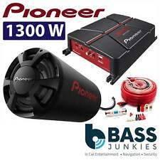 "Pioneer TS-WX306T 12"" 1300 Watts Car Sub Bass Tube & GM-A3702 500W Amplifier Kit"