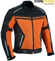 MENS ORANGE AIR VENT TECHNOLOGY MESH SUMMER MOTORBIKE MOTORCYCLE TEXTILE JACKET XXXL