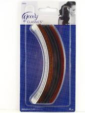 GOODY SHELLI BANANA CLINCHER HAIR COMBS - 4 PCS. (35955)