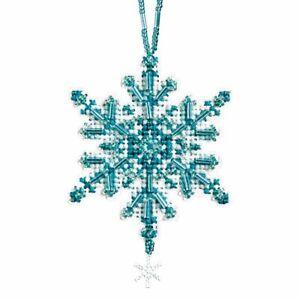 Aqua Crystal Beaded Charmed Ornament Kit Mill Hill 2012 Snow Crystals