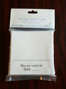 Victoria Lynn Seating Table Cards Package 50 Pieces White & Black