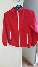 United colours of benetton kids jacket - red - medium - full zip - with hood
