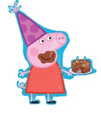 "Peppa Pig Birthday Jumbo 33"" inch SuperShape Foil Mylar Balloon"