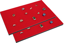 "2 Piece 144 Jewelry Red Insert Display Pads  14 3/4"" x 7 3/4"" x 1/2"""