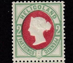 HELIGOLAND 1875-90 SG11 2pf. (½d.) DEEP ROSE AND DEEP GREEN -  MNH CV £17.00