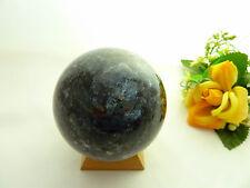SELTENE SCHILLERNDE LARVIKIT-SYENIT KUGEL 1,017 kg,TOP QUALITÄT, 85 mm Ø