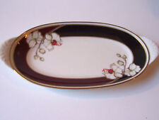 Noritake Midnight Orchid Oval Relish Dish Ivory China Server Japan Retired #7290