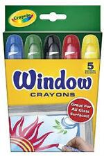 Crayola Washable Window Crayons, 5 Colors