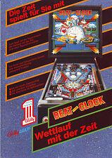 Bally Wulff BEAT THE CLOCK Original German NOS Flipper Pinball Machine Flyer