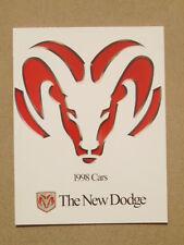 1998 DODGE VIPER NEON STRATUS INTREPID CARAVAN BROCHURE