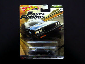 Hot Wheels Fast & Furious Motor City Muscle '87 Buick Grand National GNX Diecast