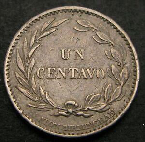 ECUADOR 1 Centavo (Un) 1884 - Copper/Nickel - VF - 1420