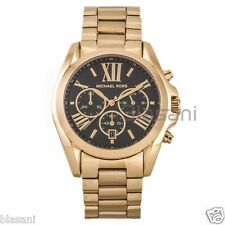 Michael Kors Original MK5739 Womens Bradshaw Gold Black Dial Chronograph Watch