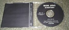 BON JOVI Japan PROMO ONLY 1 track CD acetate EVERYDAY original OFFICIAL sleeve