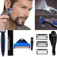 Men Electric Rechargeable Razor Shaver Beard Hair Clipper Edge Trimmer Grooming