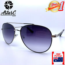 Grey Silver Metal Aviator Polarised Sunglasses Women/Men/Unisex/Pilot - AstarC