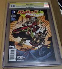 Harley Quinn #8 CGC 9.8 Signature Signed Conner Palmiotti Johnson! Batman 75th