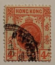 Travelstamps: 1912-1914 Hong Kong Stamps Scott #111 4c Used Ng