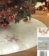 Weihnachtsbaum Decke 120 cm Weiß Christbaum Unterlage Schmuck Tannenbaumdecke
