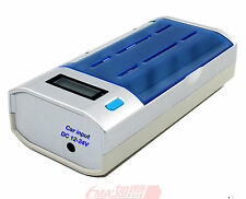 Intelligent Smart LCD Charger/Discharger for D AA AAA 9V Ni-MH/Ni-Cd Battery UK
