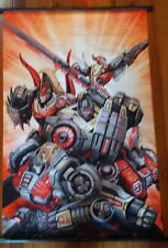 "TRANSFORMERS ""DINOBOTS"" 60cm X 90cm ANIME CLOTH WALL SCROLL AUTOBOTS"
