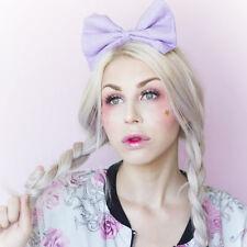 Lilac purple pastel bow headband Rockabilly Pin up girl
